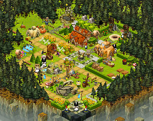 "English: Screenshot of game ""Ravenwood Fa..."