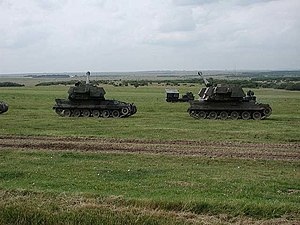 Royal School of Artillery - Self propelled guns at Larkhill