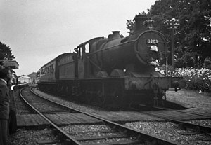 GWR 2251 Class - Image: Last Passenger train at Newent Station. geograph.org.uk 509332