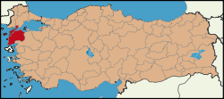 Latrans-Turkey location Çanakkale.svg
