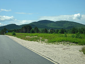 Lead Mountain (Maine) - Image: Lead Mountain from south