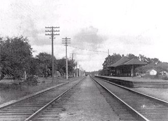 Leaside - Original Leaside railway station in 1899. The station was completed in 1894 by Canadian Pacific Railway.