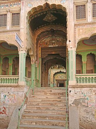 Marwari people - Image: Lentrée de l Haveli Kedia (Fatehpur) (8440941824)