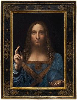 Leonardo da Vinci or Boltraffio (attrib) Salvator Mundi circa 1500