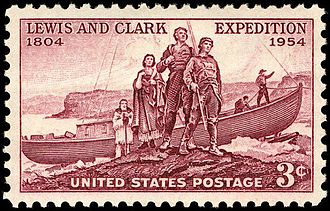 Meriwether Lewis - Lewis and Clark, 1954 issue