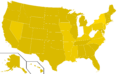 Libertarian Party presidential election results, 1988, ordinal (United States of America).png