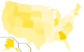 Libertarian Party presidential election results, 2000 (United States of America).png