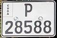 License plate of Cuba 2003 motorcycle Pinar del Río P 28588.jpg