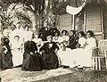 Liliuokalani with group at the home of John F. Colburn at Pearl City (PP-98-13-010).jpg