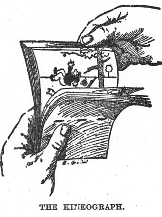 Flip book - 1886 illustration of the kineograph