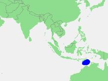 Lagekarte Timorsee