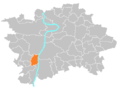 Location map municipal district Prague - Velká Chuchle.PNG