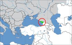 Situación de Abjasia
