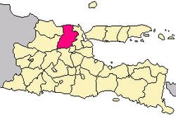 Location of Lamongan Regency in East Java