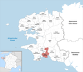Locator map of Kanton Fouesnant 2019.png