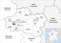 Locator map of Kanton Olivet 2019.png