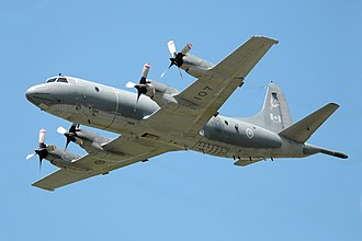 Royal Canadian Navy - A Royal Canadian Air Force CP-140 Aurora. The aircraft is used by the RCAF as a maritime patrol aircraft.