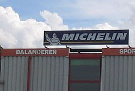 Reclamebord van Michelin
