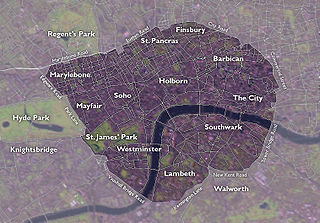 major roads that encircle the centremost part of London