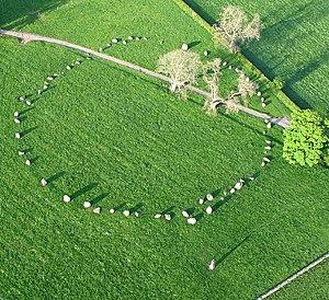 Stone circles in the British Isles and Brittany - Long Meg and Her Daughters, the largest example of Alexander Thom's Type B Flattened Circle