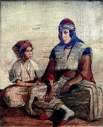 Louis-Anselme Longa - Ouerda (Warda) and her Daughter