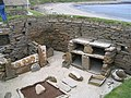 Looking down into one of the dwellings at Skara Brae - geograph.org.uk - 1574813.jpg
