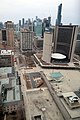 Looking down on Nathan Phillips Square and City Hall (41647547375).jpg
