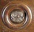 Lorenzo ghiberti e aiuti, porta nord del battistero di firenze, retro con teste leonine, 04.JPG