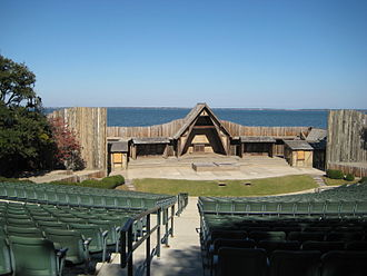 The Lost Colony (play) - The waterside theatre on Roanoke Island where the play is performed.