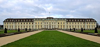 Ludwigsburg - View of the upper grounds of Ludwigsburg Palace