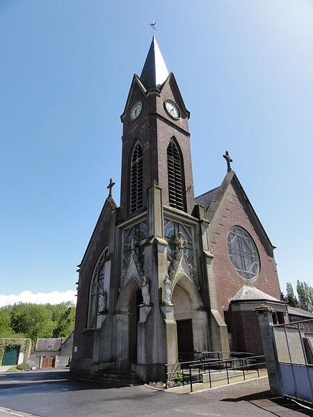 Mézières-sur-Oise (Aisne) église Saint-Pierre et Saint-Paul