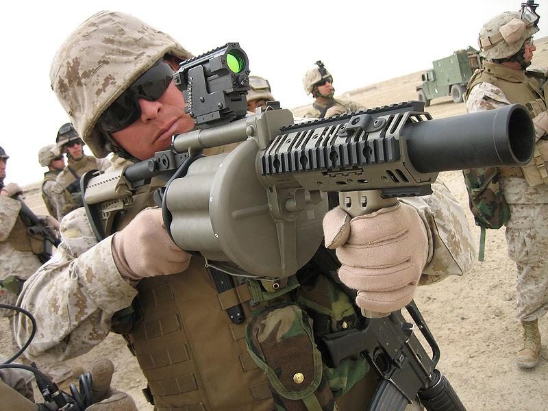 قوة أمن كوسوفو 800px-M-32_Grenade_Launcher