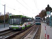 マンハイムの軌道併用ガイドウェイバス