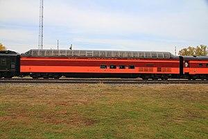 Super Dome (railcar) - Image: MILW Super Dome at Winona