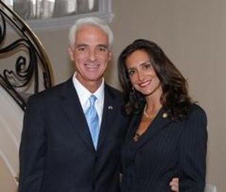 Charlie Crist - Crist and his former wife Carole Rome
