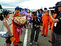 MNA News Reporter Interviewing ROCAF Pilot's Finance after a Successful Marriage Proposal 20130601.jpg