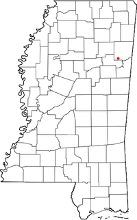 Location of Strong, Mississippi
