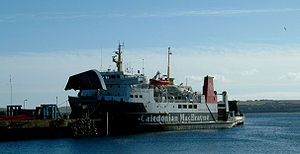Transport in Scotland - A Caledonian MacBrayne ferry at Scrabster