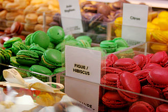 Food hall - Macarons at La Grande Épicerie, Paris