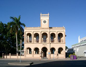 Mackay, Queensland - Town Hall, built in 1912, now serves as a tourist information centre.