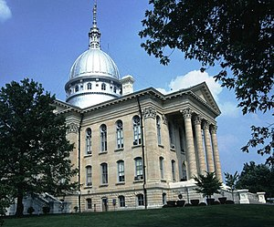 National Register of Historic Places listings in Macoupin County, Illinois - Image: Macoupin County Courthouse, Carlinville