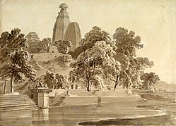 Madan Mohan temple, on the Yamuna, Vrindavan, 1789.jpg