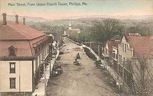 Phillips, Maine - Main Street in 1907