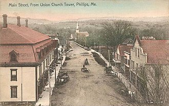 Phillips, Maine - Main Street in 1907