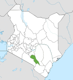 Location of Makueni County (Green)