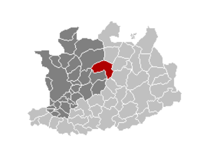 Westmalle - Location of Malle in  Antwerp province