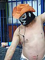 Man in Wrestler's Mask Dancing on Street - Coyoacan - Mexico City - Mexico (15517132391).jpg