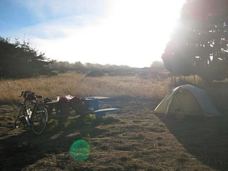 Manchester State Park (California) - Campsite at Manchester State Park, September 2010