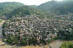 मंडी शहर का दृश्य