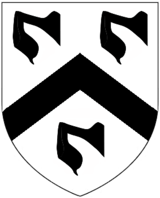 Thomas Mansel, 1st Baron Mansel - Canting arms of Mansel: Argent, a chevron between three maunches sable